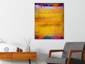 Yellow Fusion (2018) Acrylic painting by Nestor Toro