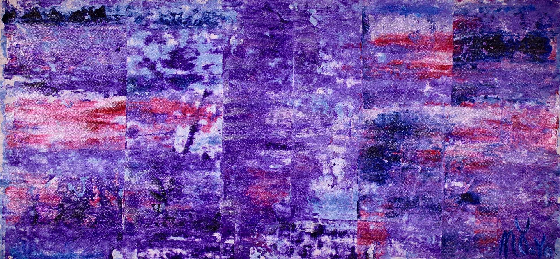 Enchanting Violet Spectra (2018) Acrylic painting by Nestor Toro