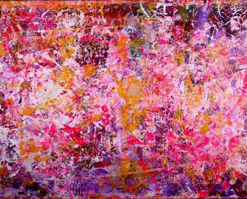SOLD - Golden Springs (2015) Acrylic painting by Nestor Toro - Sold ABSTRACT ART