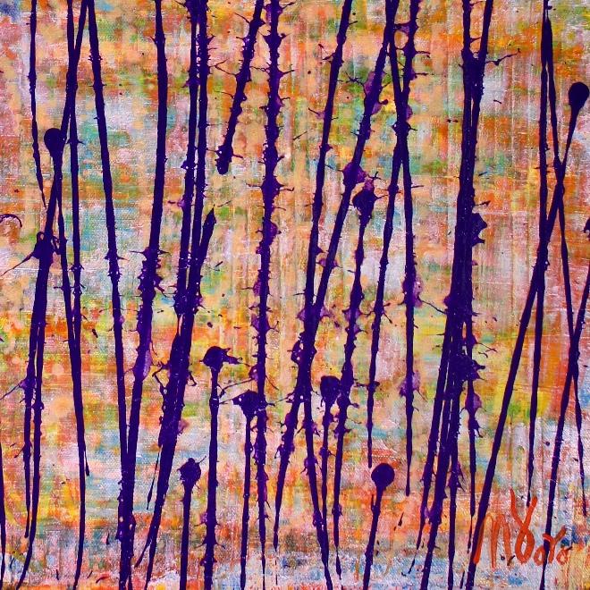Sunny Drizzles 1 (2018) Acrylic painting by Nestor Toro