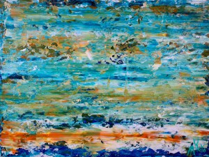 SOLD! Enchanted Spectra 5 (2018) Acrylic painting by Nestor Toro in Los Angeles