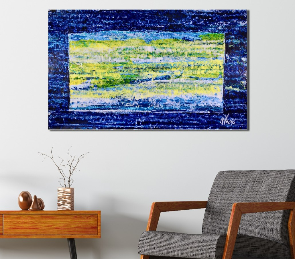 SOLD - Contemplative Space (2018) Acrylic painting by Nestor Toro