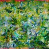 SOLD - Terra Verde (Above Tree Reflections) (2018) Acrylic painting by Nestor Toro
