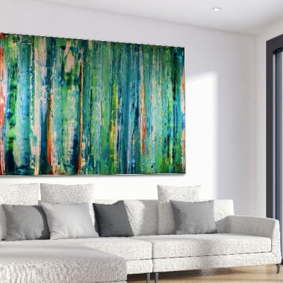 Spring Meadow (2018) Acrylic painting by Nestor Toro