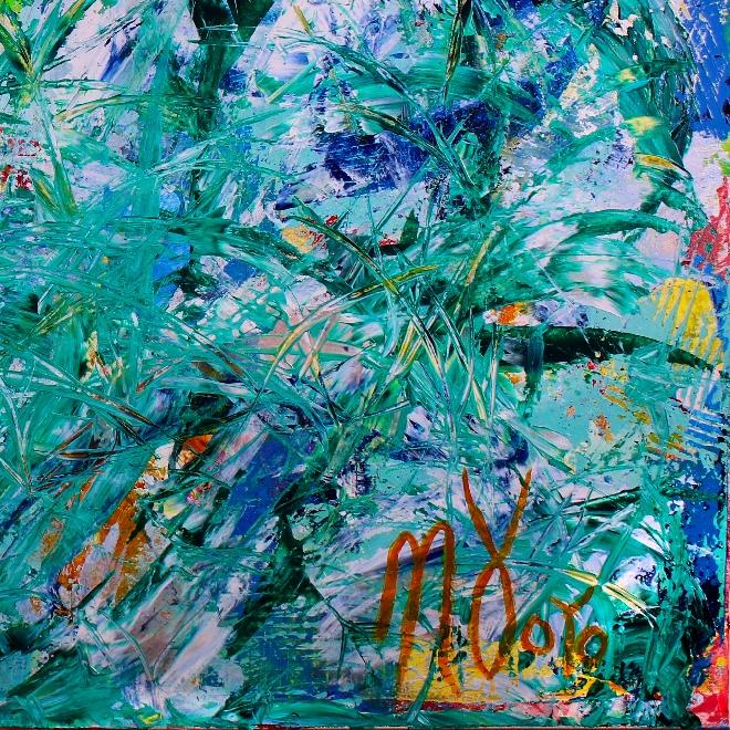 Greener Grass- Bring the spring!!! (2018) Acrylic painting by Nestor Toro