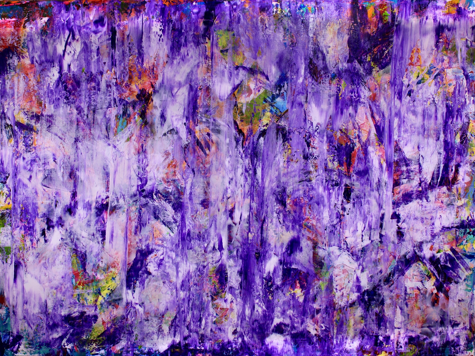 Purple Spectra (2018) Acrylic painting by Nestor Toro