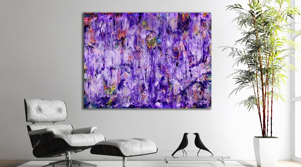 Purple Spectra (2018) Acrylic painting by Nestor ToroPurple Spectra (2018) Acrylic painting by Nestor Toro
