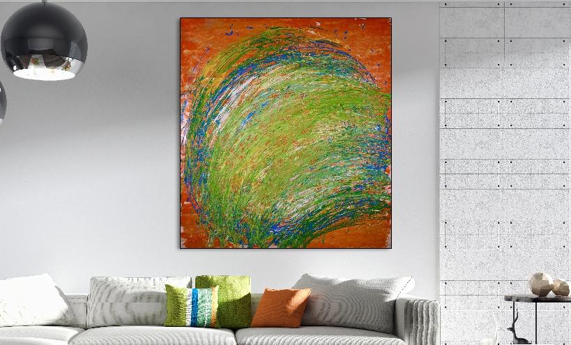 Vortex in Nature (2018) Acrylic painting by Nestor Toro