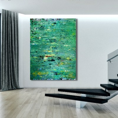 Verdor (distant) (2018) Abstract painting by Nestor Toro