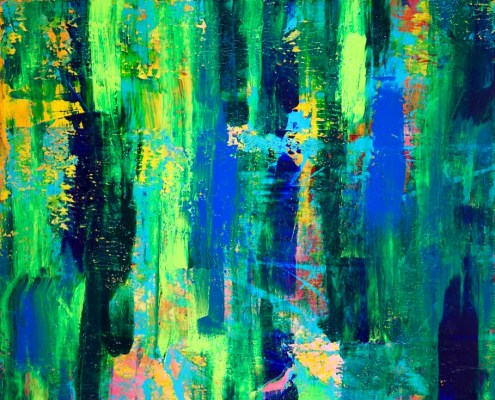 SOLD - Cathartic II (2015) Acrylic painting by Nestor Toro