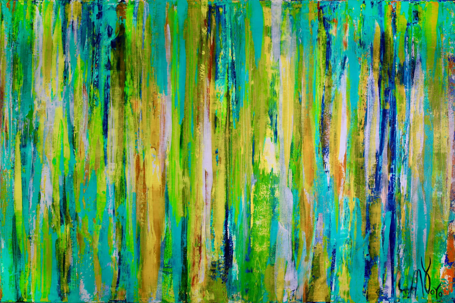 Enchanted Spectra 7 (Late Spring) (2018) Acrylic painting by Nestor Toro