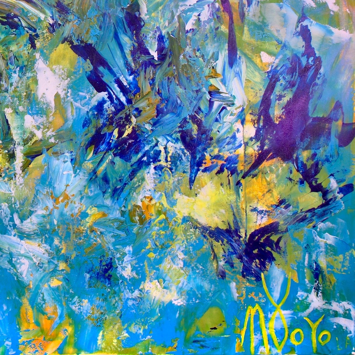 Terra Verde- Regrowth (2017) Acrylic painting by Nestor Toro