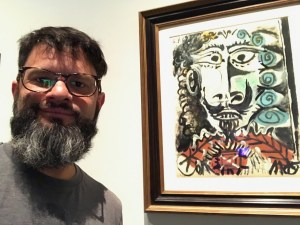 Here I am with an amazing Picasso on exhibit in the LACMA in Los Angeles