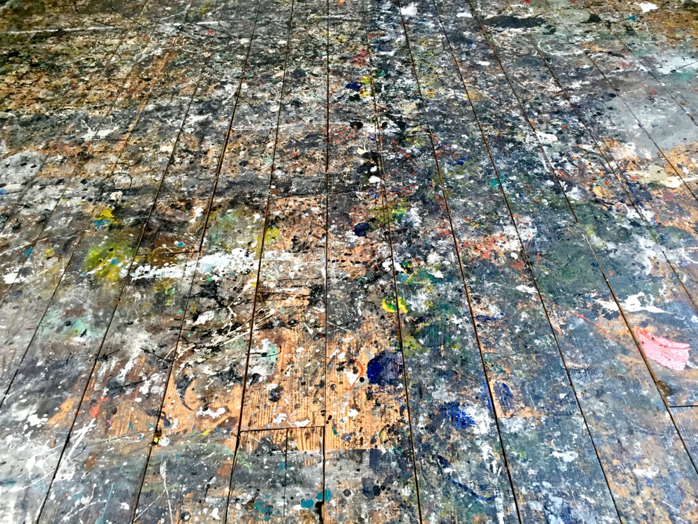 Floor in Jackson Pollock's studio floor