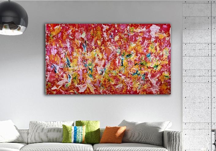 Energy Rising 2 (2018) Acrylic painting by Nestor Toro