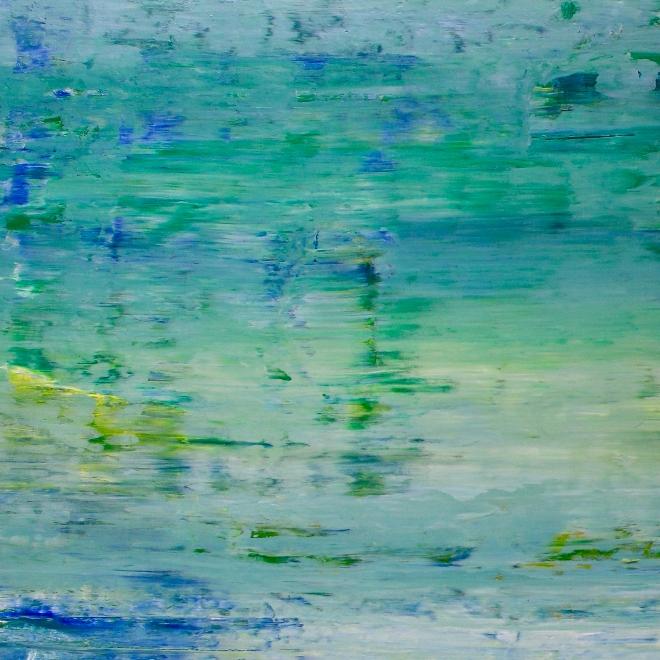 Sky Walking 4 (2018) Abstract painting by Nestor Toro