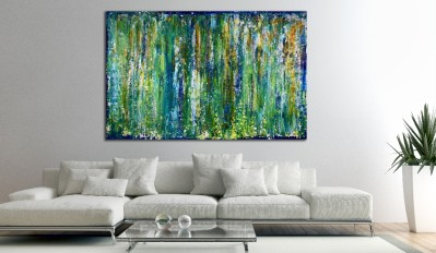 Enchanted Spectra 8- Multiple Orientations (2018) abstract Acrylic painting by Nestor Toro