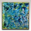 gestural blue flow (2018) abstract art Acrylic painting by Nestor Toro
