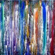 SOLD - Organic Terrain Ocean by Nestor Toro 18 x 24 inches