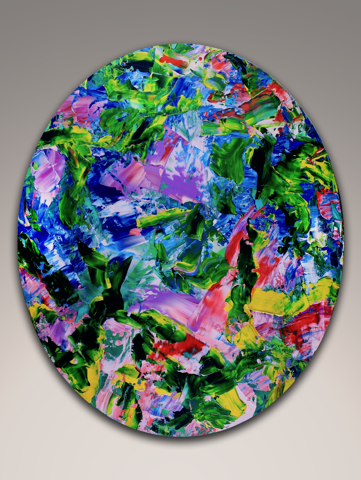 Different motions - Oval Painting! (2018) painting by Nestor Toro in Los Angeles