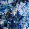 Azure Storm with Light (2018) abstract art Acrylic painting by Nestor Toro