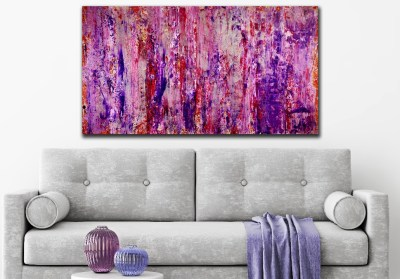 Purple storm with silver light (2018) abstract art Acrylic painting by Nestor Toro - SOLD