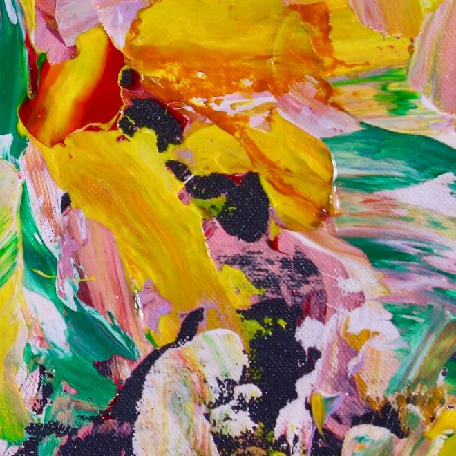 A night of secrets (2018) abstract art Acrylic painting by Nestor Toro