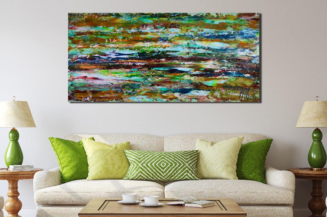 Earthy Spectra (2018) abstract art Acrylic painting by Nestor Toro