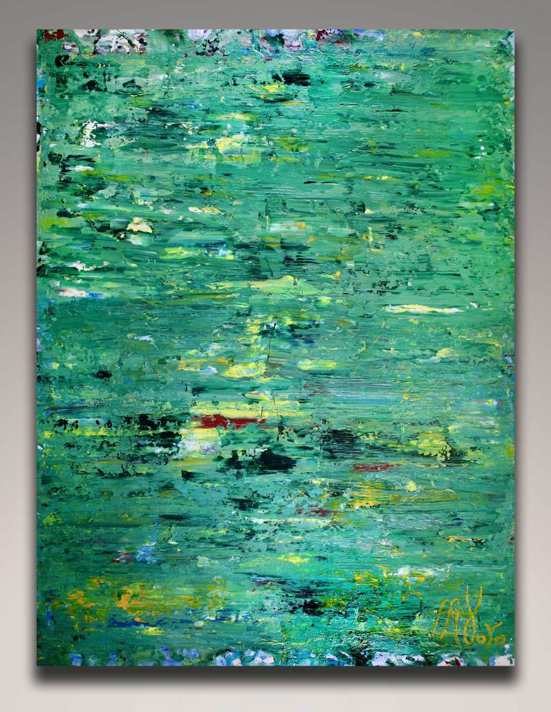 SOLD - abstract expressionistic - Verdor by Nestor Toro in Los Angeles