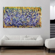 SOLD - Shimmering Lights (In Paradise) (2017) abstract expressionist Acrylic painting by Nestor Toro