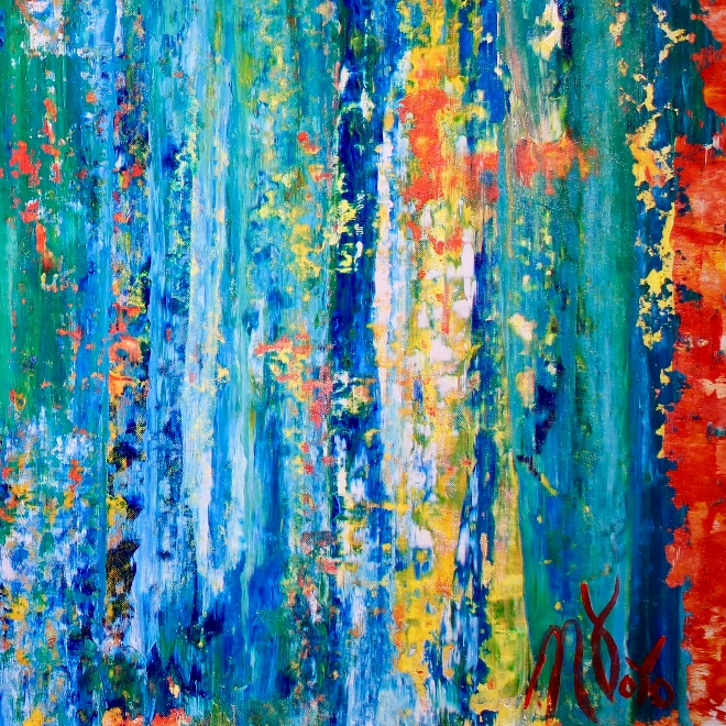Landscape expressions No.2 (2018) expressionistic Acrylic painting by Nestor Toro