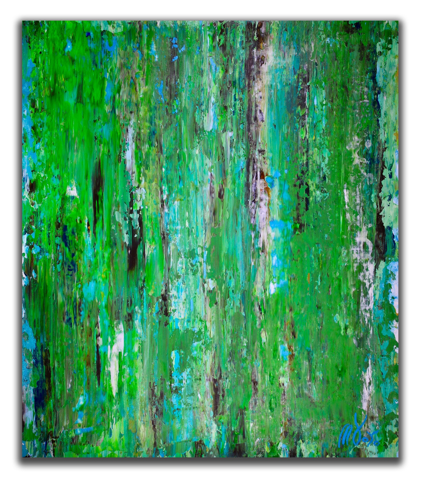 Pastures in late spring (2018) Expressionistic abstract Acrylic painting by Nestor Toro