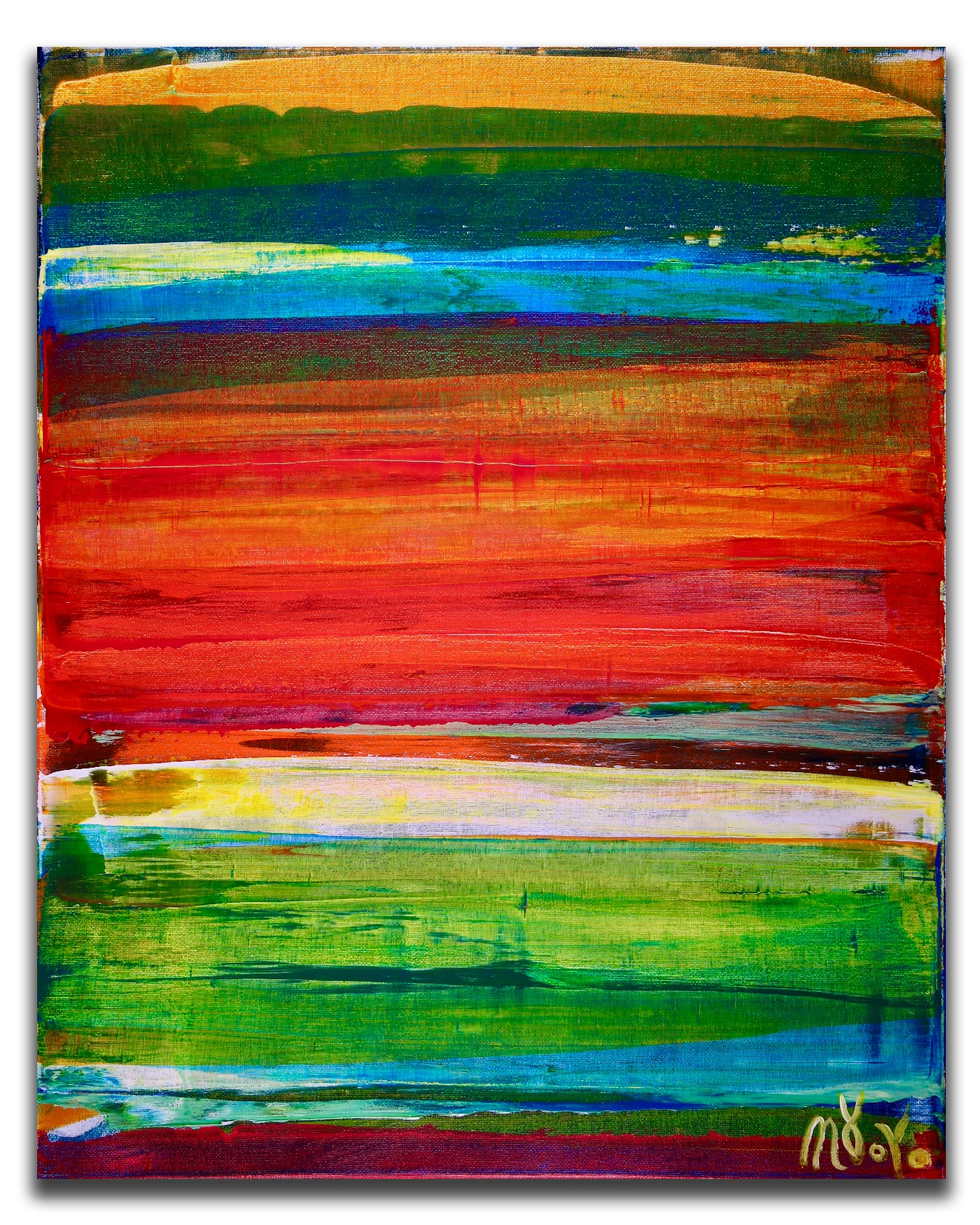Color revival in Los Angeles 1 by Nestor Toro (2018) Abstract Acrylic painting by Nestor Toro