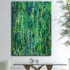 Green Frenzy (2018) Expressionistic Abstract Acrylic painting by Nestor Toro