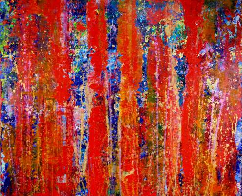SOLD- Abstract painting Infinity Stream by Nestor Toro