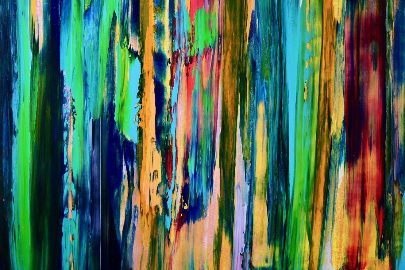 Deconstructed Forest 2 (2018) Abstract Acrylic painting by Nestor Toro