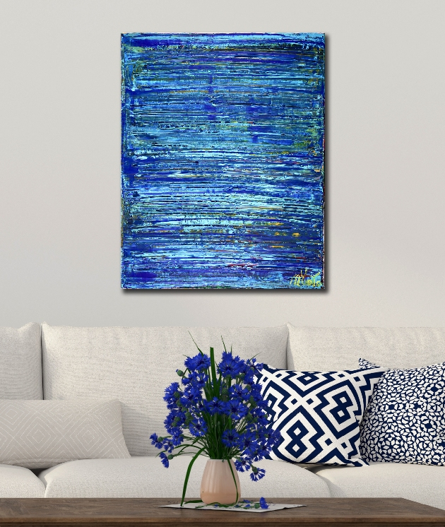 SOLD - Maritime Spectra 3 (2018) Abstract Acrylic painting by Nestor Toro