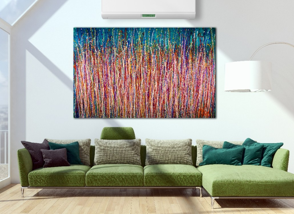 SOLD Abstract - Energy Garden (2018) Abstract Expressionistic Acrylic painting by Nestor Toro