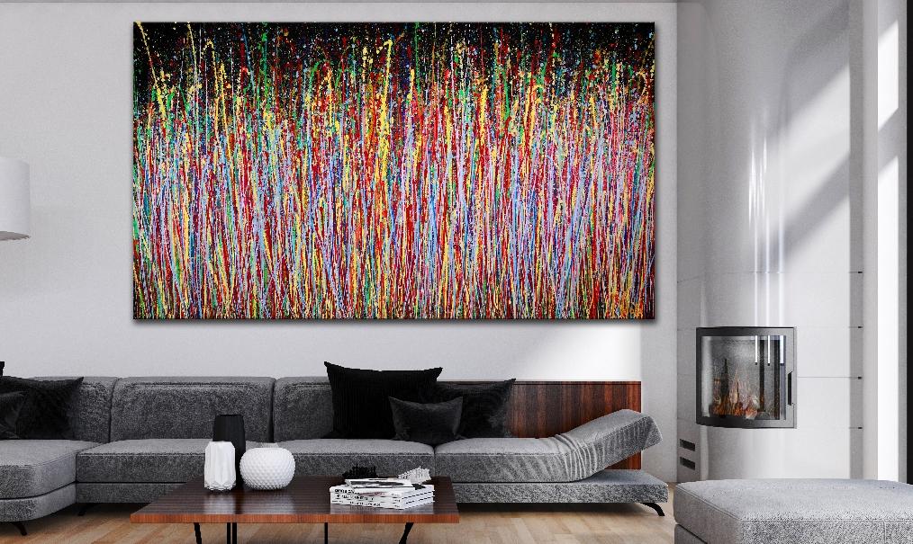 Wonder garden (2018) Abstract Acrylic painting by Nestor Toro