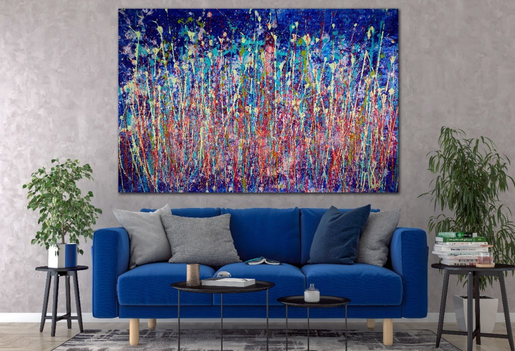 SOLD - XL Painting Special for the holidays. Abstracto colorido! (2018) Abstract