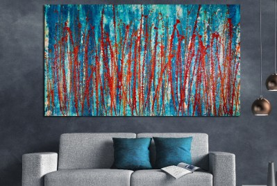 LARGE Painting Special for the holidays. Abstracto colorido 2! (2018) Abstract Acrylic painting by Nestor Toro