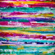 SOLD - Color field and mirrors (2017) Abstract Acrylic painting by Nestor Toro