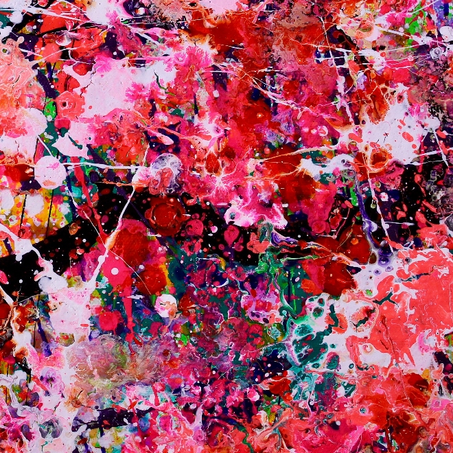 Shimmering lights and gestures (2018) Abstract Acrylic painting by Nestor Toro