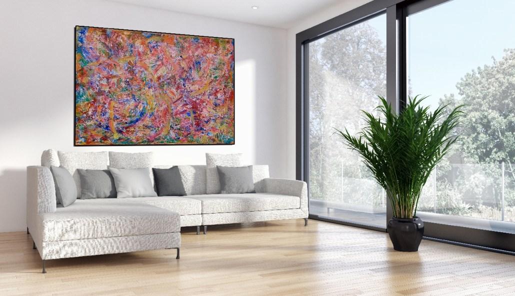 SOLD - Echoes (Autumn Fantasy) (2016) Mixed-media painting by Nestor Toro