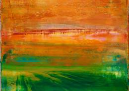 SOLD - Abstract Painting - Incandescent California Sunset (2017) Abstract Acrylic painting by Nestor Toro
