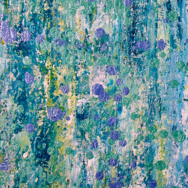 Sold Abstract painting / Thousand Points of Light by Nestor Toro - Extra Large Statement work