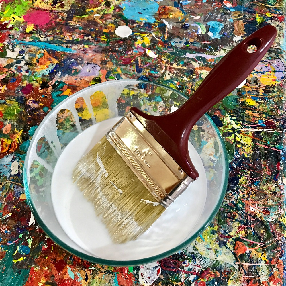 About the only time I use a brush is to apply the base of gesso to the canvas. I usually paint with nothing more than a palette knife