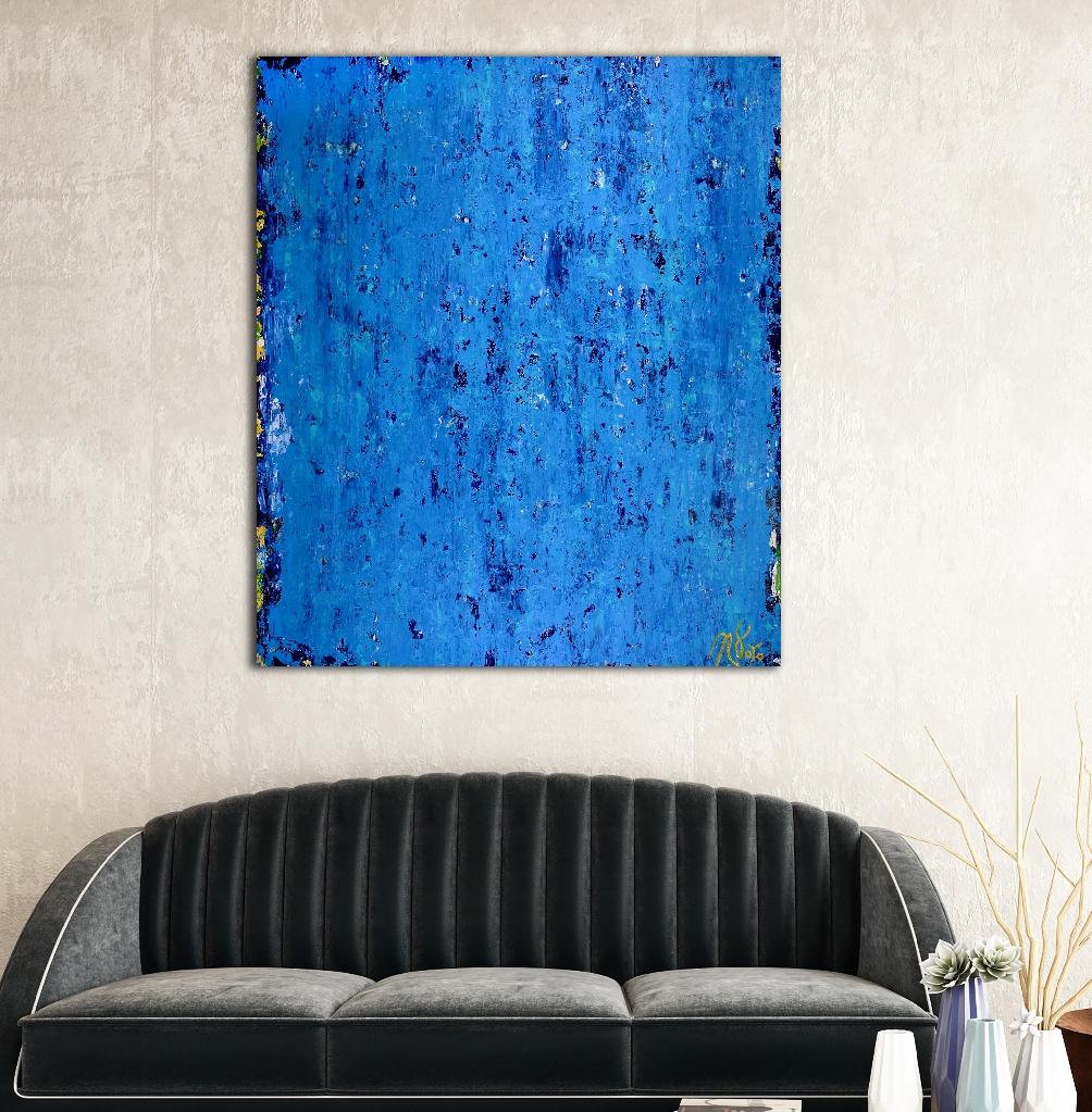 SOLD - Alma Azul (2018) Abstract Acrylic painting by Nestor Toro