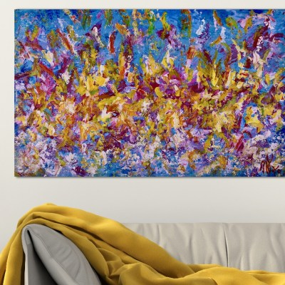 Only fantasies by Nestor Toro (2018) Los Angeles abstract artist