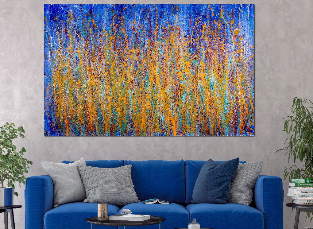 SOLD - A closer look (Drizzles delight) (2019) Abstract Acrylic painting by Nestor Toro